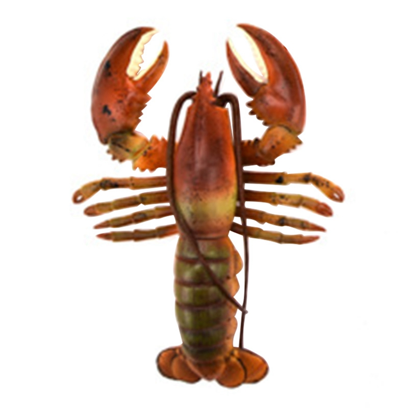Realistic Solid Underwater World Animals Models Lifelike Large Size Lobster Children Cognitive Toys Marine Organism Models