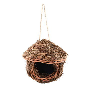 Bird Cage Accessories Decoration Hand Weave Bird House Parrot Hanging Swing Toys Ecology Nest 4
