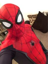 I Bambini di età Spider Man Lontano Da Casa di Peter Parker Cosplay Zentai Suit Costume di Spiderman Costume di Halloween SuperHero Body Tuta(China)
