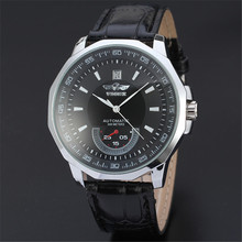 Fashion Mechanical Watches Men Automatic Self Wind Leather Band Wristwatch reloj automatico hombre