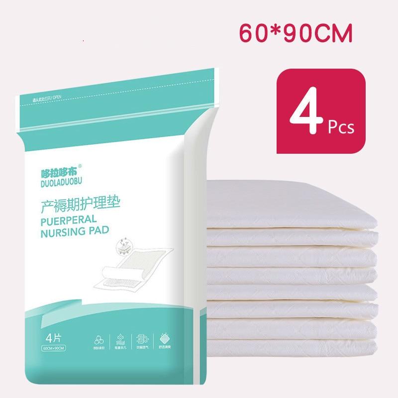 4 Pcs 60*90cm Maternal Care Mat  Nursing Pad For Pregnant Women Puerperium Diaper Pad Disposable Adult Care Pad