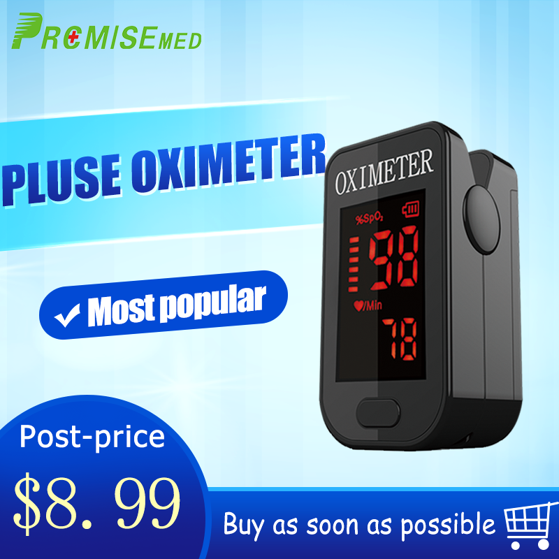 Household Health Monitors Oximeter CE Medical Heart Rate Monitor LED Fingertip Pulse Oximeter Finger Blood Oxygen-Cool Black image