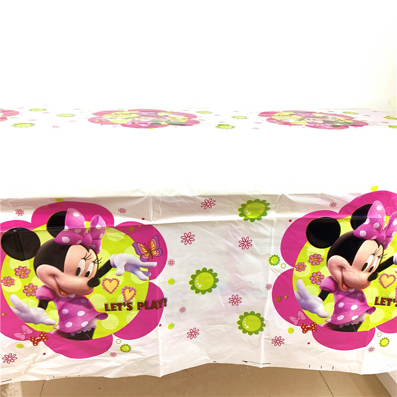 Image 5 - 83Pcs/set Minnie Mouse Cartoon Theme Baby Birthday Party Decorations Kids Evnent Party Supplies Party Decoration-in Disposable Party Tableware from Home & Garden