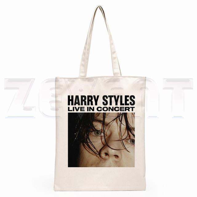Harry Styles Fine Line Korean Ullzang Hip Hop Hipster Cartoon Print Shopping Bags Girls Fashion Casual Pacakge Hand Bag