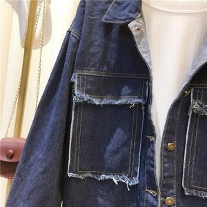 Image 5 - Semfri Jacket Women Winter Denim Jacket High Quality Loose chaqueta mujer 2019 Streetwear All match Mental Covered Button Coat
