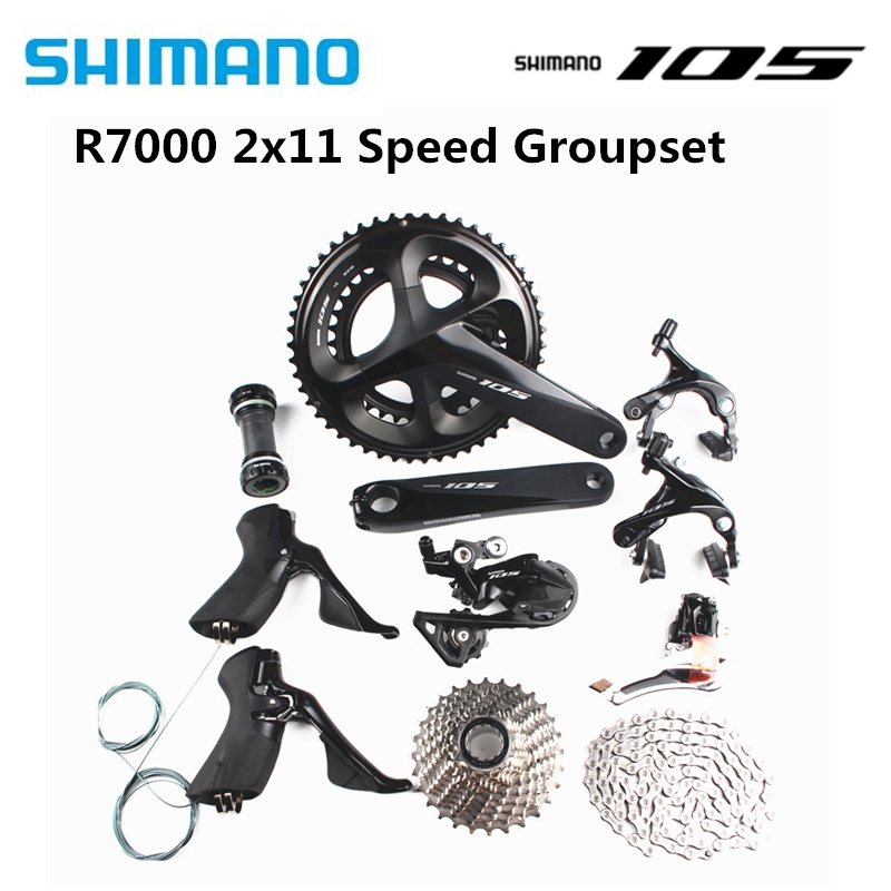 SHIMANO 105 R7000 2x11 speed 170/172.5/175mm 50 34T 52 36T 53 39T road bike bicycle kit groupset upgrade from 5800|Bicycle Derailleur| |  - title=