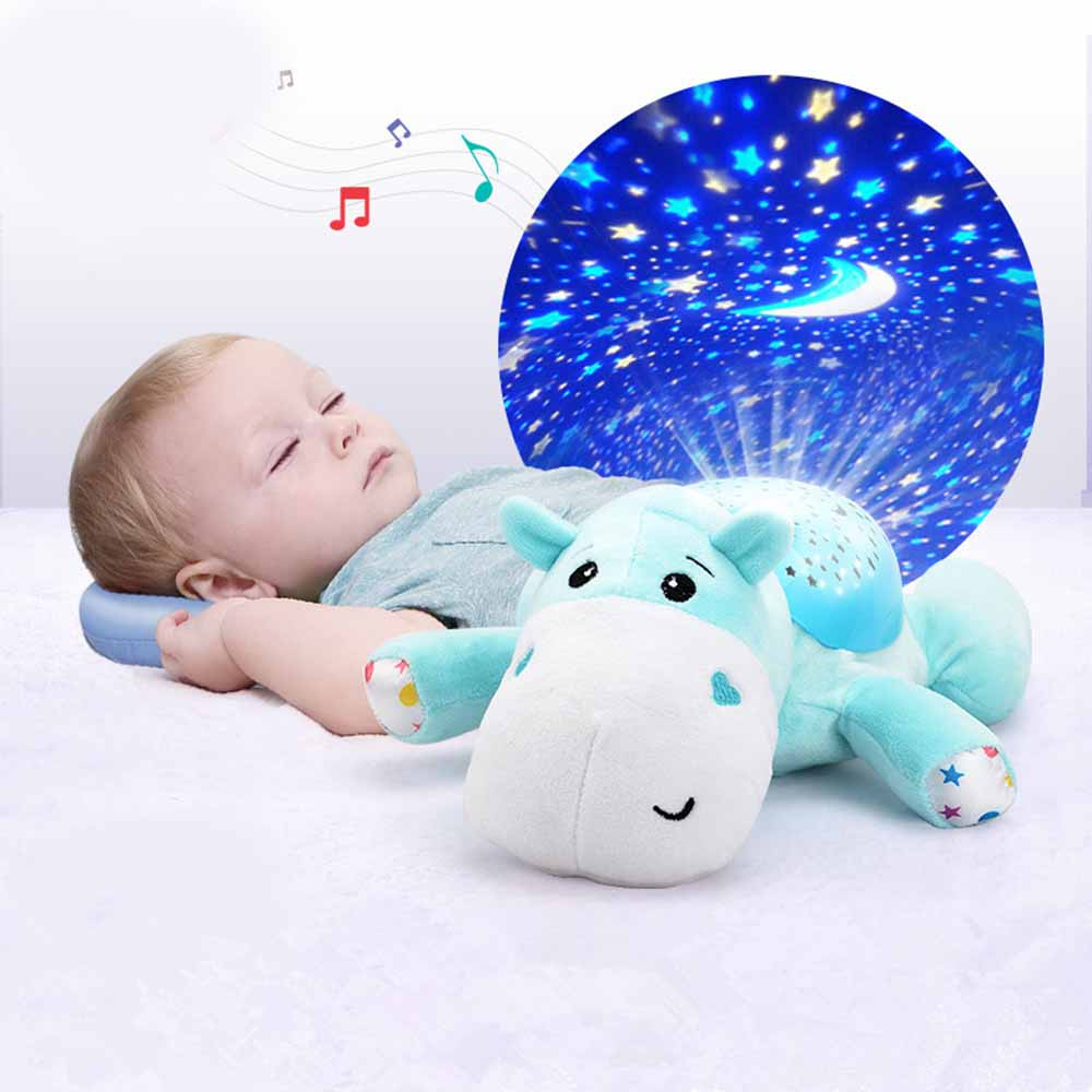 Cute Design Led Night Light Stars Projector Baby Toys For Children Sleep With Colorful Light Luminous Music Animals Lamp Toys