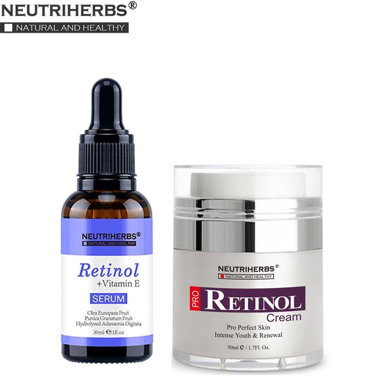 Neutriherbs Retinol Serum And Retinol Moisturizer Cream Anti Acne Aging Wrinkle Moisturizing Firming Skin Face Cream Serum