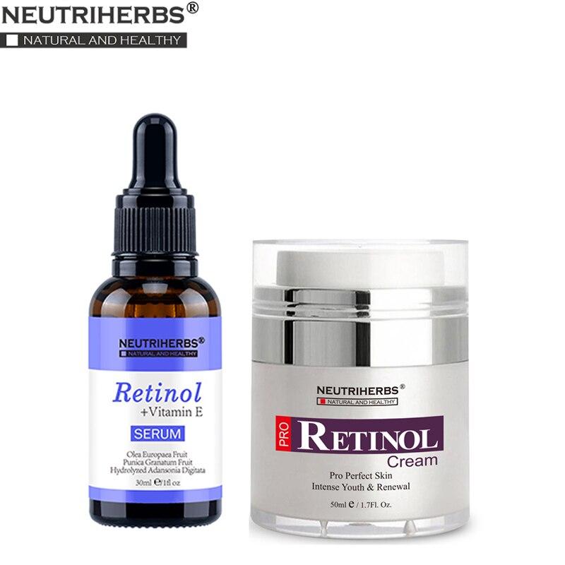 Neutriherbs Serum Retinol y Retinol crema hidratante Anti acné envejecimiento arruga humectante reafirmante piel suero de crema facial