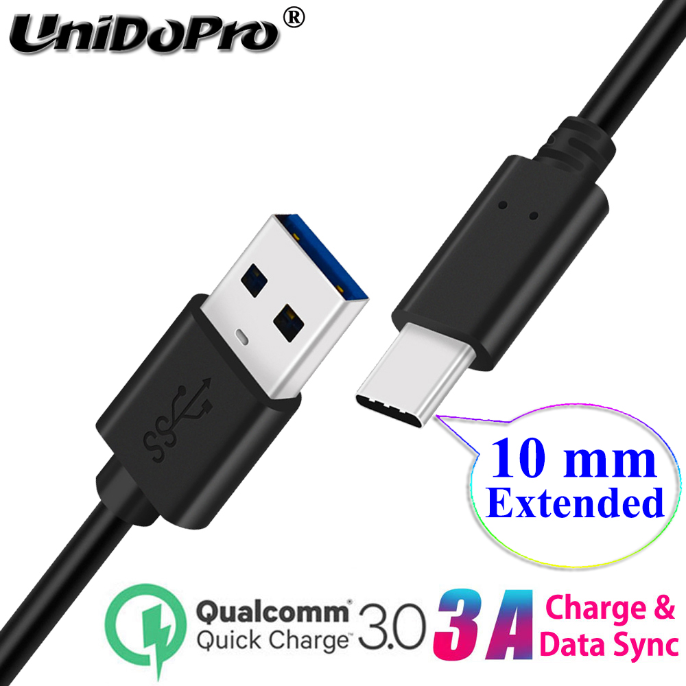 10mm Extended Tip QC 3.0 Type C Fast Charger Cable for Ulefone Armor 9 7E 7 6S 6E 6 5 3WT 3W 3T 2S Power 6 5S 3S Rugged Phones