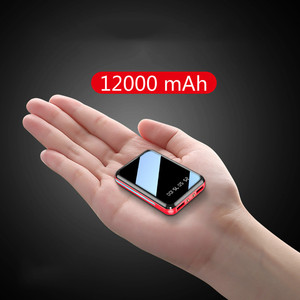 Mini Power Bank 12000mAh USB Charging Portable Charger External Battery Pack For Xiaomi mi 8 iPhone 11 pro Samsung S8 Poverbank(China)