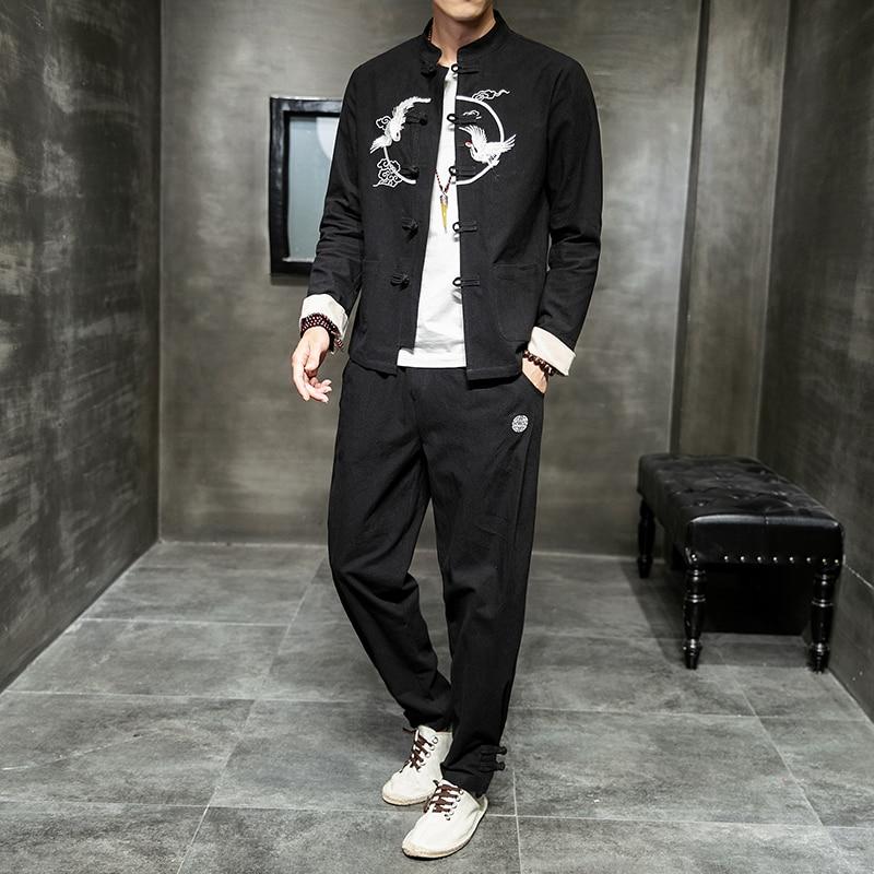 Autumn 2019 Chinese Cotton And Linen Suit Embroidered Large Size Suit Men QT3028-TZ1993P105 138