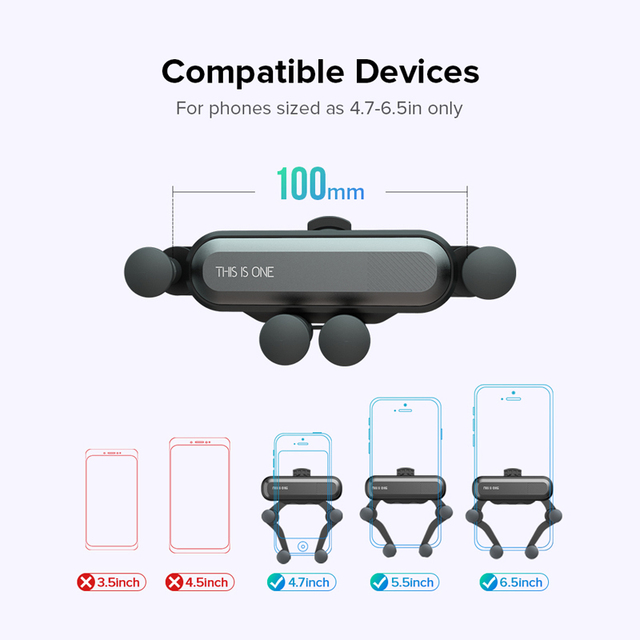 Gravity Car Holder For Phone in Car Air Vent Clip Mount No Magnetic Mobile Phone Holder GPS Stand For iPhone XS MAX Xiaomi 5