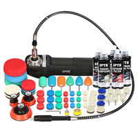 SPTA 71pcs 3inch Auto Polishing Machine Electric Car Rotary Polisher Kit with Flexible Shaft Buffer Foam Pad Wool Pad Back Plate