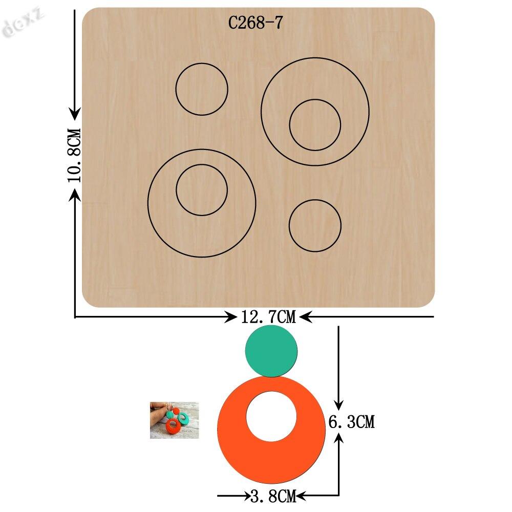 Nuovo ciondolo sagoma Di Legno Scrapbooking C-268-7 Fustelle per comune morire macchine da taglio sul mercato