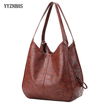 Vintage Leather Luxury Handbags Women Bags Designer Bags Famous Brand Women Bags Large Capacity Tote Bags For Women sac a main vintage hand tote shoulder crossbody women messenger bags handbags famous designer brand female bolsas sac a main femme hot sale