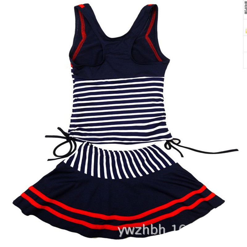 2018 New Style Stripes Navy Style KID'S Swimwear Big Boy Bathing Suit Swimwear Girls Swimwear Swimwear