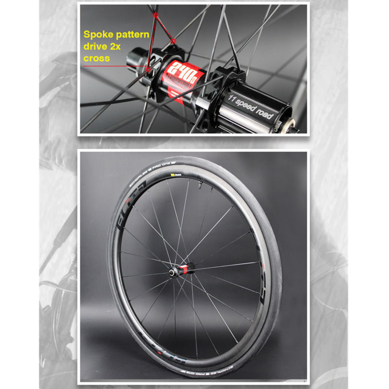 Image 5 - Elite KING DT 240S Carbon Bicycle Wheel 30 38 47 50 60 88 Depth Tubular Clincher Tubeless 700c Carbon Fiber Road Bike Wheelsetroad bike wheelsetbike wheelsetdt 240s -