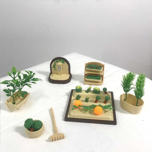 1:12 Forest Home Villa Furniture Set Toy Forest Animal Family Mini Bedroom Set Mini Living Room Furniture Toy Gift 4