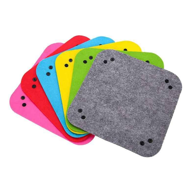 Складные войлочные лотки для хранения игральных костей, настольные игры, кошелек для ключей, монета, кости, лоток, квадратная подставка, коробка для хранения, настольный декор, конфетный цвет