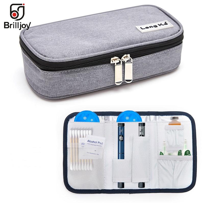 New Portable Refrigerated Insulin Bag Medical Ice Bag Drug Cooler Bag Diabetic Insulation Travel Cooler Box Aluminum Foil Ice Ba