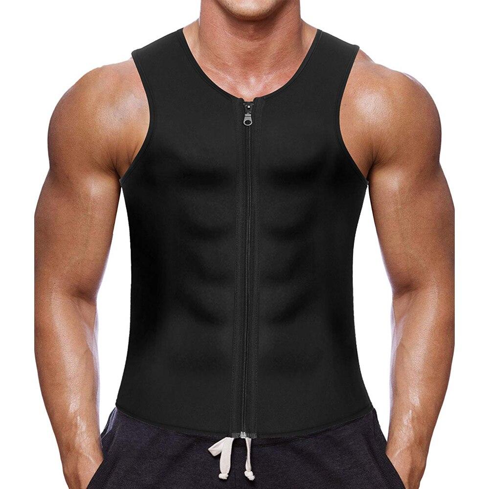 CXZD 2019 Men Waist Trainer Vest for Weightloss Hot Neoprene Corset Body Shaper Zipper Shapewear Slimming Belt Belly Men (3)