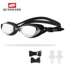 QUESHARK для мужчин и женщин, профессиональные очки для плавания с гальваническим покрытием, анти-туман, УФ-защита, очки для плавания, водонепроницаемые очки для плавания ming