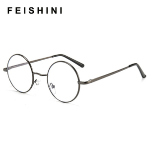 Image 1 - 2020 Tiny Round Computer Glasses Frame Women Rays Radiation optical Eyeglasses Frames Metal Unisex Anti Blue Light Glasses Men