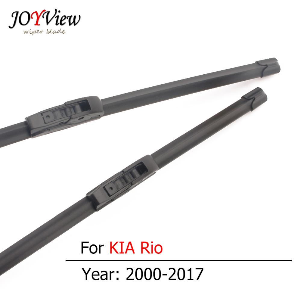 S410 Car Front Wipers for <font><b>KIA</b></font> <font><b>Rio</b></font> Model Year From 2000 to 2017 Hook Type Windshield Wiper Blades 2pcs a set image