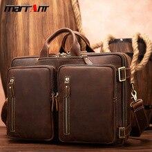 The new mens bag retro travel baotou crazy horse skin multifunctional backpack
