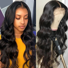 Middle Part Lace Human Hair Wigs Part Lace Wigs Body Wave Pre Plucked With Baby Hair 150% Brazilian 13*1 Lace Remy Hair Wigs