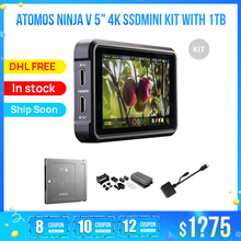 Monitor Feelword F6 Atomos Portkeys Lh5h Ninja-V PLUS 4K with 1tb-Angelbird Ssdmini-Kit
