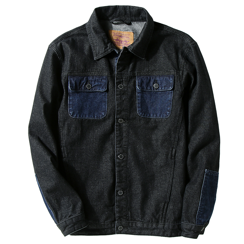 7XL Mens Denim Jacket Contrast Color Casual High Quality Men Coat Cowboy Men's Jean Streetwear Tops Chaqueta Hombre;YA065