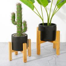 Durable Wood Flower Pot Rack Strong Free Standing Bonsai Holder Home Garden Indoor Display Plant Stand Shelf