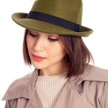 Women's Hat Green Felted 2021 Fashion