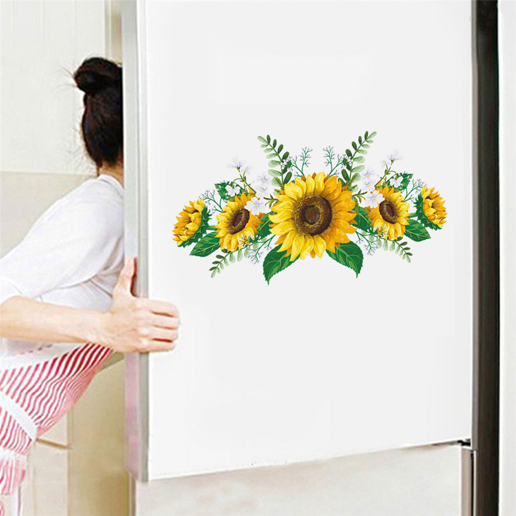 UK Removable Sunflower Wall Sticker Kitchen Waterproof Decal Home Decoration PVC