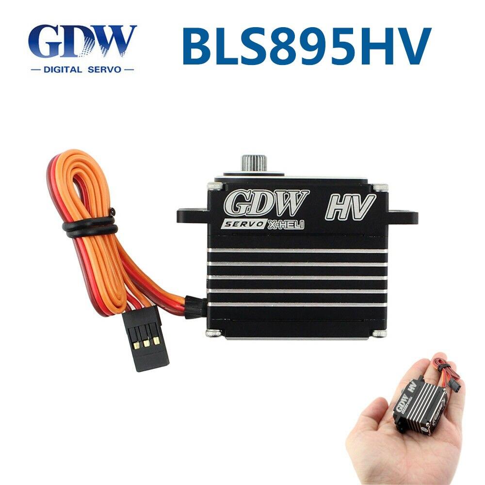 GDW BLS895HV Brushless Standard 550-700 métal étroit fréquence verrouillage queue actionneur XL700