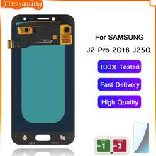 LCD Display For Samsung Galaxy J2 Pro 2018 J250 Super Amoled LCD Touch Screen Digitizer Assembly For Samsung J250 J250M J250F(China)
