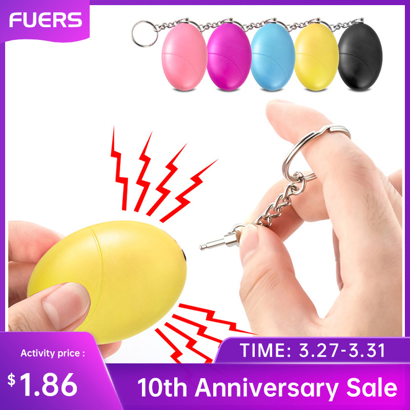 Fuers 1pcs 120DB Keychain Alarm Self Defense Women Security Personal Safety Scream Loud Self Defense Keychain Alarm Self Defence