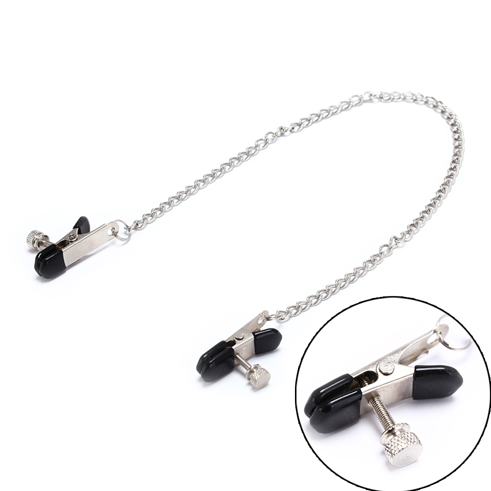 1 Pair Stainless Steel Metal Chain Nipple Milk Clips Breast Clip Sex Slaves Nipple Clamps Sex Toys Butterfly Style For Couples
