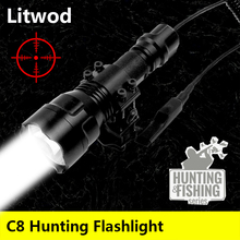 Led Taschenlampe Lanterna Licht Lampe Litwod Stoßfest, harte Verteidigung Lampen C8 T6 Camping Jagd Aluminium Schwarz 5 8