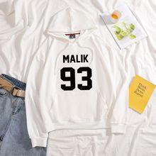 Новинка 2020 года; Модные толстовки с капюшоном надписью malik