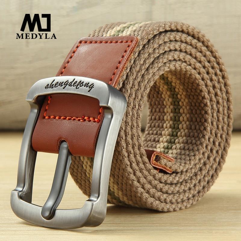 Male Leather Braided Belt Male Needle Buckle Elastic Belt Mens Youth Fashion Belt