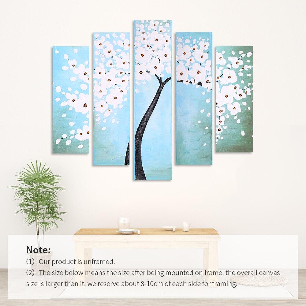 Картина на холсте, акриловая живопись, настенные художественные картины для гостиной, домашний декор, современный абстрактный цветок, квад... - 6