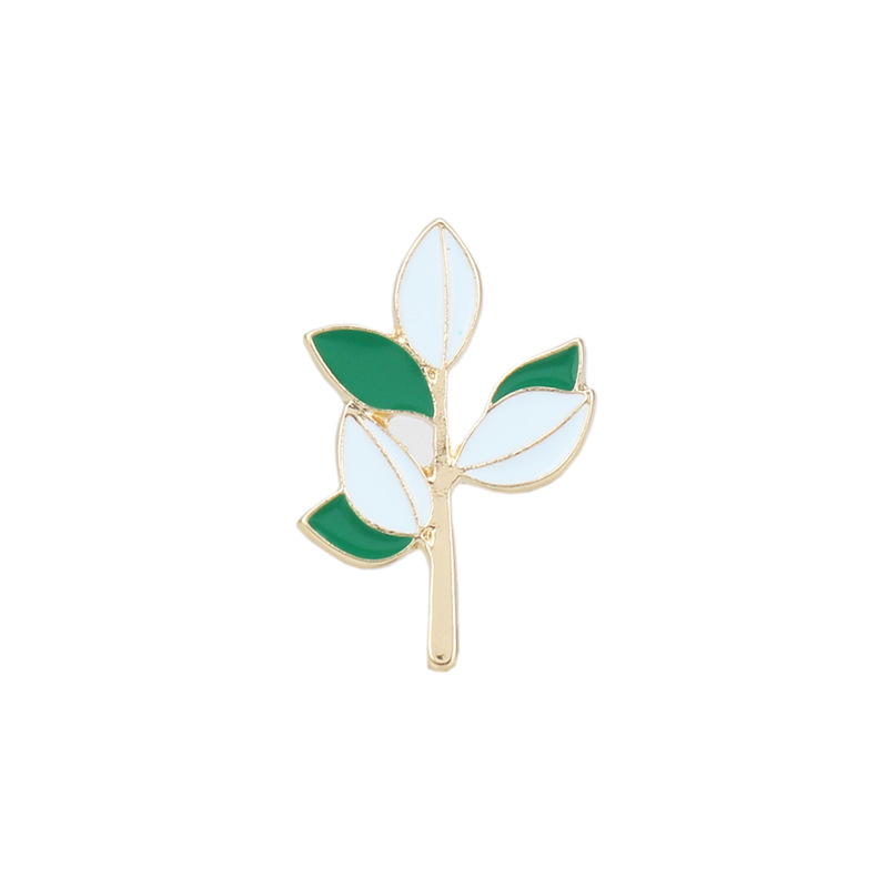 Nieuwe Product Persoonlijkheid Niche Serie Mori Vrouwen Literatuur En Kunst Kleine Verse Groene Blad Tak Broche Pin Accessoires Gift 6