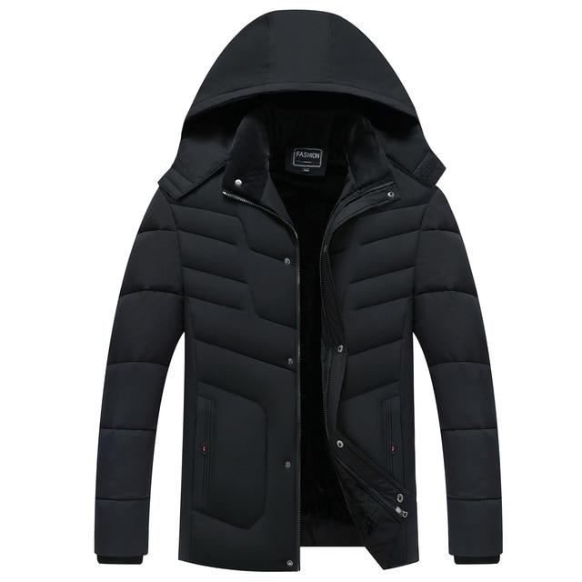 Parka Men Coats 2020 겨울 자켓 남성 두건 후드 방수 아웃웨어 웜 코트 아버지 의류 캐주얼 남성 오버 코트