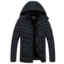 Parka casacos masculinos 2020 jaqueta de inverno engrossar com capuz à prova doutágua outwear casaco quente dos pais roupas casuais