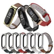watch strap for Xiaomi Mi Band 3 4 Sport Strap PU microfiber leather Bracelet wristband 1sh