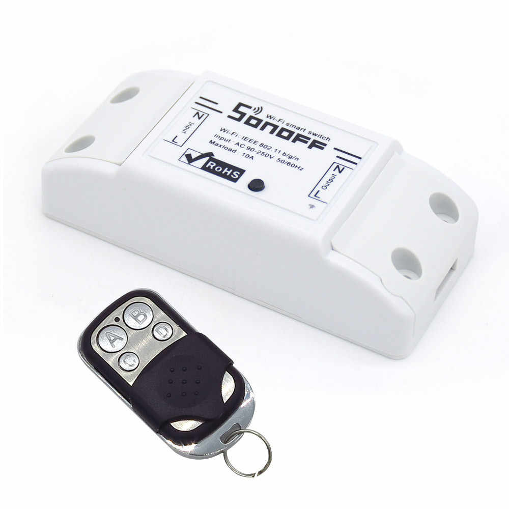 Itead Sonoff Smart WIFI Switch Nirkabel Remote Switch Domotica Wifi Lampu Rumah Kontrol Bekerja dengan Alexa Переключатель X
