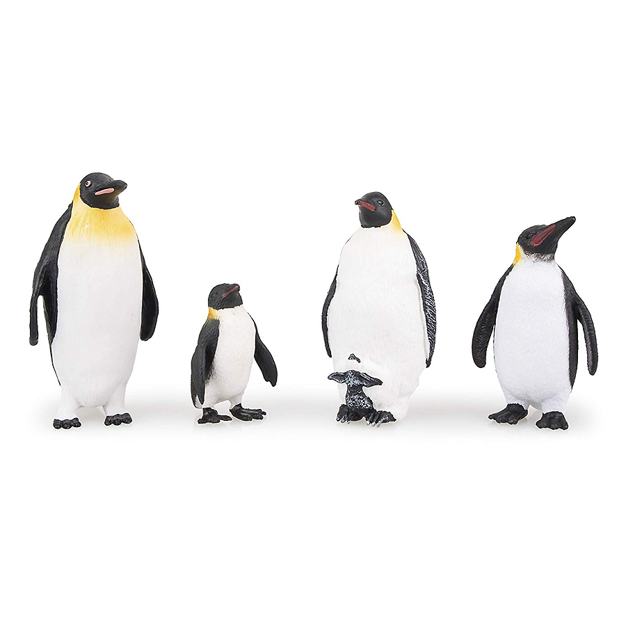 Simulation Penguin Models Figurines,Polar Arctic Animal Figures Antarctic Set,Easter Eggs Cake Toppers Christmas Birthday Gift 4